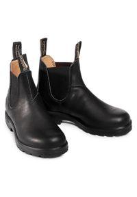 Czarne botki Blundstone na średnim obcasie, na obcasie