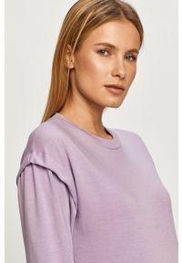 Haily's - Bluza bawełniana. Okazja: na co dzień. Kolor: fioletowy. Materiał: bawełna. Styl: casual