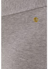 Szare spodnie dresowe Deha melanż