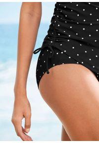 Czarny strój kąpielowy bonprix moda ciążowa, w grochy