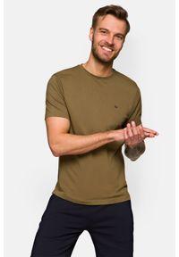 Lancerto - Koszulka Khaki Mark. Okazja: na co dzień. Kolor: brązowy. Materiał: włókno, materiał, bawełna. Wzór: aplikacja. Sezon: lato, jesień, wiosna, zima. Styl: klasyczny, casual, militarny