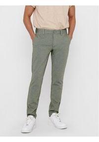 Only & Sons - ONLY & SONS Spodnie materiałowe Mark 22015833 Zielony Regular Fit. Kolor: zielony. Materiał: materiał