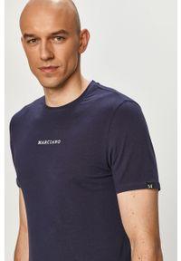 Niebieski t-shirt Marciano Guess gładki