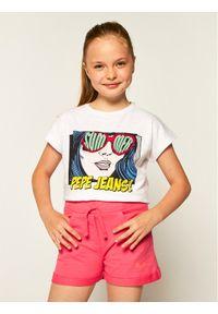 Różowe spodenki sportowe Pepe Jeans