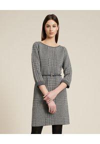 Luisa Spagnoli - LUISA SPAGNOLI - Dwustronna sukienka Molleggio. Kolor: szary. Materiał: wełna. Długość: mini