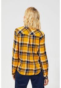 Koszula MOODO z długim rękawem, długa, w kratkę