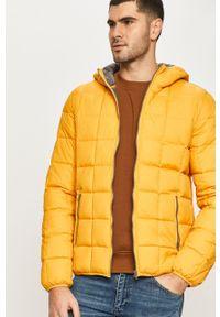 Żółta kurtka Wrangler z kapturem, casualowa, na co dzień