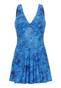 Cellbes Strój kąpielowy we wzory niebieski female ze wzorem/niebieski 42. Kolor: niebieski. Materiał: poliester
