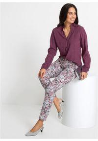 Bluzka z długim rękawem bonprix oberżyna. Kolor: fioletowy. Długość rękawa: długi rękaw. Długość: długie