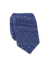 Niebieski krawat Giacomo Conti