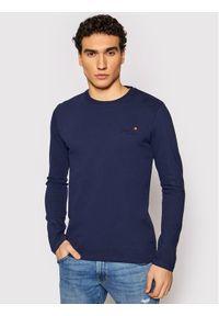 Niebieska koszulka z długim rękawem Superdry z długim rękawem, vintage