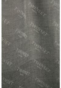Szary szalik TwinSet klasyczny