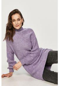 Fioletowy sweter Answear Lab długi, wakacyjny