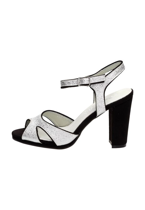 Srebrne sandały S.Barski klasyczne, na słupku