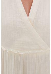 Y.A.S - Sukienka. Kolor: beżowy. Materiał: bawełna, tkanina. Wzór: gładki. Typ sukienki: rozkloszowane