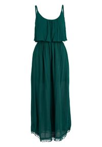 Zielona sukienka bonprix midi, bez ramiączek
