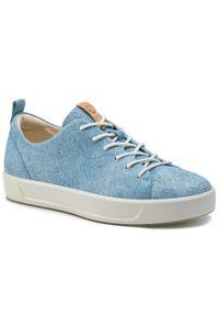 Niebieskie buty sportowe ecco na co dzień, z cholewką