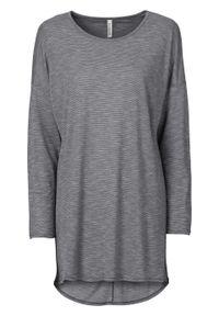 Shirt melanżowy z długim rękawem bonprix szaro-kolorowy. Kolor: szary. Długość rękawa: długi rękaw. Długość: długie. Wzór: melanż, kolorowy