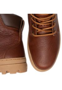 Brązowe buty zimowe Palladium z cholewką