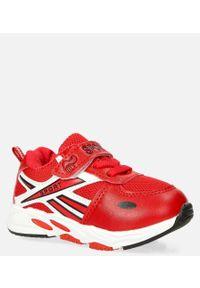 Casu - czerwone buty sportowe na rzep casu 20p15/m. Zapięcie: rzepy. Kolor: czerwony