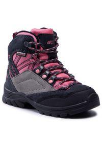 Alpina - Trekkingi ALPINA - Alv Jr 6428-4K Pink/Grey. Wysokość cholewki: za kostkę. Kolor: wielokolorowy, szary, różowy. Materiał: skóra, skóra ekologiczna, zamsz, materiał