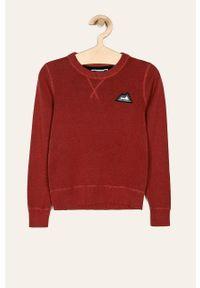 Czerwony sweter Jack & Jones z okrągłym kołnierzem, na co dzień, casualowy