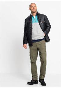 Bluza z zamkiem bonprix jasnoszary melanż - morski - ciemnoniebieski. Typ kołnierza: kołnierzyk stójkowy. Kolor: szary. Wzór: melanż #6