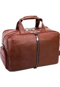 KEMER - Torba Kemer Skórzana torba na laptop 17 McKLEIN Avondale Brązowa uniwersalny. Kolor: brązowy. Materiał: skóra