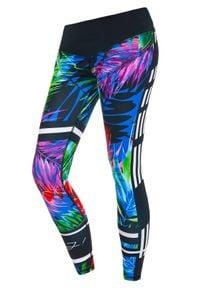 FJ! - Legginsy Tropical Forest. Materiał: skóra, elastan, dzianina, poliester. Wzór: kolorowy. Sport: fitness