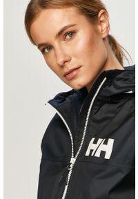 Niebieska kurtka Helly Hansen raglanowy rękaw, z kapturem, casualowa, na co dzień