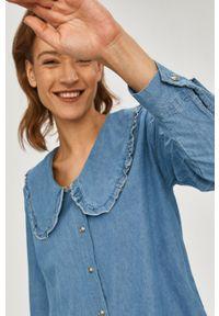 Answear Lab - Koszula jeansowa. Okazja: na co dzień. Kolor: niebieski. Materiał: jeans. Wzór: gładki. Styl: wakacyjny