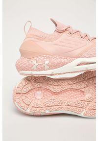 Under Armour - Buty Hovr Phantom 2. Nosek buta: okrągły. Zapięcie: sznurówki. Kolor: różowy. Materiał: guma. Sport: bieganie