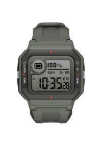 Zielony zegarek AMAZFIT smartwatch, retro