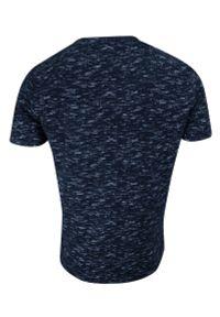 Brave Soul - T-shirt Granatowy Melanżowy, Koszulka Męska, Okrągły Dekolt, Krótki Rękaw -BRAVE SOUL. Okazja: na co dzień. Kolor: niebieski. Materiał: bawełna. Długość rękawa: krótki rękaw. Długość: krótkie. Wzór: melanż. Sezon: lato, wiosna. Styl: casual