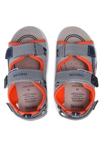 Geox - Sandały GEOX - B S.Multy B. A B150FA 05014 C9332 S Grey/Fluo Orange. Kolor: szary. Materiał: materiał. Sezon: lato. Styl: klasyczny