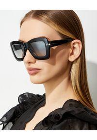 Tom Ford - TOM FORD - Okulary przeciwsłoneczne Hutton. Kolor: czarny. Wzór: gradientowy, geometria