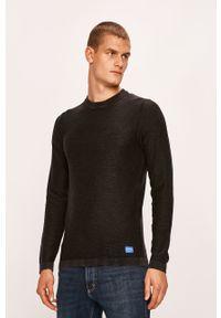Szary sweter Jack & Jones z okrągłym kołnierzem, na co dzień, casualowy