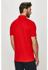Czerwona koszulka polo Hugo krótka, polo, gładkie
