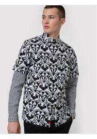 Hugo Koszula Ebor 50449730 Czarny Straight Fit. Kolor: czarny