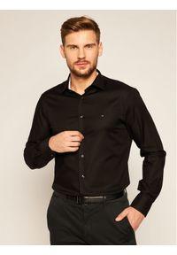 Czarna koszula biznesowa TOMMY HILFIGER