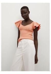 mango - Mango Bluzka Lola 87008633 Różowy Slim Fit. Kolor: różowy