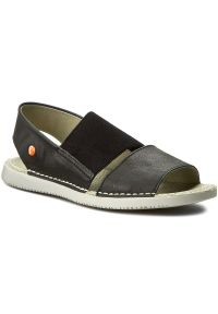 Czarne sandały Softinos casualowe, na co dzień