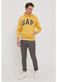 GAP - Bluza. Okazja: na co dzień. Kolor: żółty. Wzór: aplikacja. Styl: casual