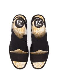 Fly London - Sandały FLY LONDON - Yajifly P500888000 Black. Okazja: na co dzień. Kolor: czarny. Materiał: skóra, materiał, nubuk. Obcas: na obcasie. Styl: casual. Wysokość obcasa: średni
