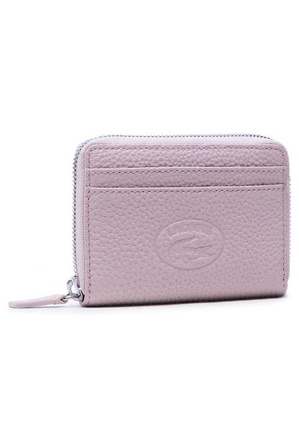 Lacoste Mały Portfel Damski Xs Zip Coin Wallet NF3406NL Różowy. Kolor: różowy