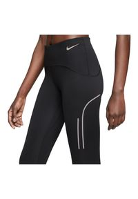 Spodnie damskie do biegania Nike Speed CT0833. Materiał: skóra, materiał, poliester. Technologia: Dri-Fit (Nike). Długość: krótkie. Wzór: gładki. Sport: fitness, bieganie