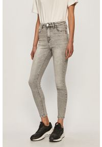 Szare jeansy only z podwyższonym stanem #4