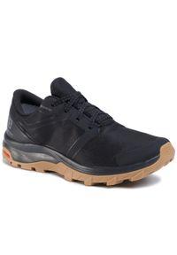 Czarne buty do biegania salomon Gore-Tex, z cholewką, na co dzień