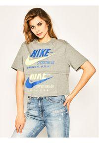 Nike T-Shirt Sportswear CJ2040 Szary Loose Fit. Kolor: szary