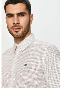 Biała koszula Lacoste na co dzień, klasyczna